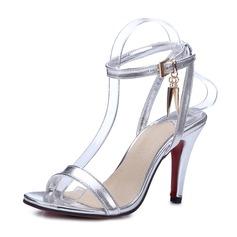 Donna Similpelle Tacco a spillo Sandalo Stiletto con Fibbia scarpe (087171527)