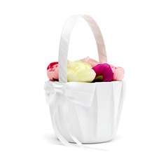 Pure Flower Basket in Satin With Bow (102018108)