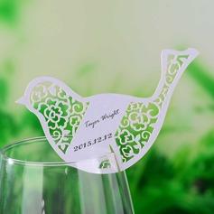 Liebe Vogel Perlen-Papier Tischkarten (Satz von 12) (131049966)