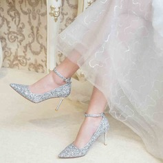 Women's Sparkling Glitter Stiletto Heel Closed Toe Pumps With Sparkling Glitter (047201449)