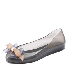 Donna PVC Ballerine Punta chiusa con Bowknot scarpe (086165234)