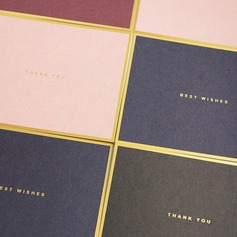 Modern Style Side Fold Thank You Cards (Set of 50) (114205160)