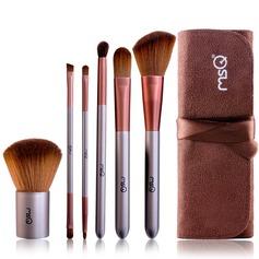 Artificial Fibre Basic 6Pcs Coffee Pouch Makeup Supply (046074589)