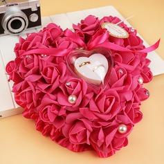 Schön Ring Kissen in Seifen-Blume mit Bänder/Blumen (103093272)