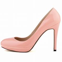 Women's Patent Leather Stiletto Heel Pumps Platform Closed Toe shoes (085059039)