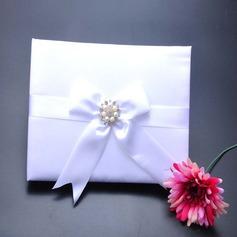 Elegante Di faux perla/Strass/Arco Guestbook (101151601)