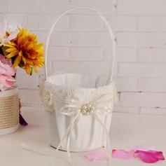 Bella Cesto di fiori in Panno con Nastri/Fiore (102169060)