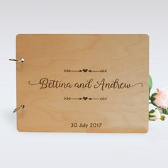 Personalized design Wood Guestbook (101198167)