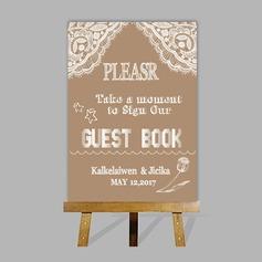 Personalizado Signo Del Libro De Visitas con Caballete (101201188)
