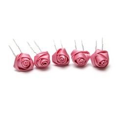 Lovely Artificial Silk Hairpins (Set of 5) (042059925)