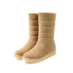 Frauen Wildleder Flascher Absatz Stiefelette Schuhe (088097421)