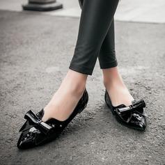 Donna PU Senza tacco Ballerine Punta chiusa con Bowknot scarpe (086145710)
