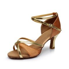 Donna Raso Tacchi Sandalo Latino con Listino alla caviglia Scarpe da ballo (053053115)