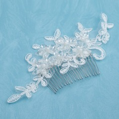 Beautiful Alloy/Imitation Pearls/Lace Combs & Barrettes With Pearl (042026178)