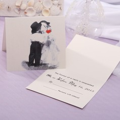 Personalized Bride & Groom Style Top Fold Response Cards (Set of 20) (114063933)