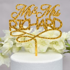 Personalizzato Mr & Mrs Acrilico Decorazioni per torte (Venduto in un unico pezzo) (119165593)