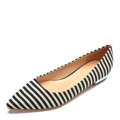 Donna Tessuto Senza tacco Ballerine scarpe (086175378)