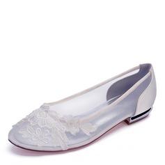 Frauen Mesh Flascher Absatz Geschlossene Zehe Flache Schuhe (047187623)