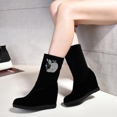 Frauen Wildleder Keil Absatz Stiefel mit Andere Schuhe (088109384)