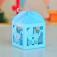 Landau Cuboïd Boîtes cadeaux avec Rubans (Lot de 12) (050043243)