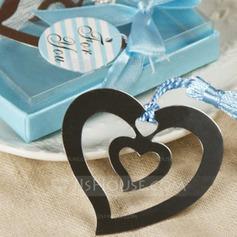 Hjertet i et hjerte Rustfrit Stål Bogmærker med Kvast (051013607)