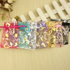 Heart style Favor Bags With Ribbons (Set of 12) (050032578)