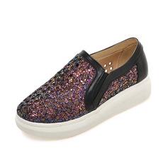 Vrouwen Kunstleer Flat Heel Flats Closed Toe schoenen (086089829)
