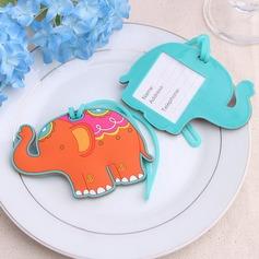 Encantador Elefante Plástico Etiquetas de Equipaje (051052631)