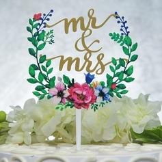 Mr & Mrs Acrilico Decorazioni per torte (Venduto in un unico pezzo) (119165590)