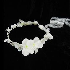 Lovely Pearl/Artificial Silk Flower Girl's Headwear (042026132)
