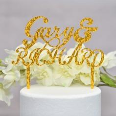Personalizzato Mr & Mrs Acrilico Decorazioni per torte (Venduto in un unico pezzo) (119165592)
