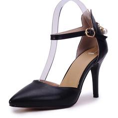 Donna Similpelle Tacco a spillo Stiletto Punta chiusa con Cerniera scarpe (085168420)