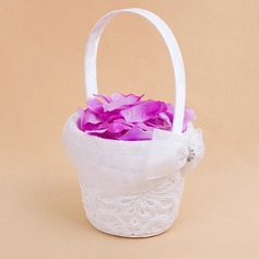 Beautiful Flower Basket in Satin With Embroidery (102018092)