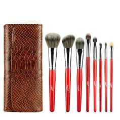 Artificial Fibre Fancy 8Pcs PU Pouch Makeup Supply (046074604)