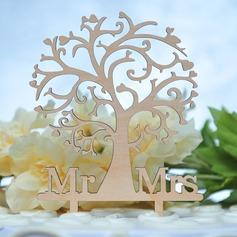 Mr & Mrs Legno Decorazioni per torte (119157024)