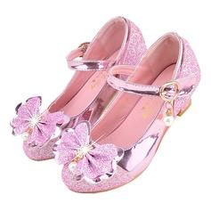 Fille de bout rond Bout fermé similicuir Chaussures de fille de fleur avec Bowknot (207200916)