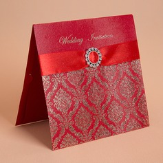 Floral Style Top Fold Invitation Cards (Set of 50) (114058285)