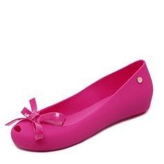 Donna PVC Ballerine Punta aperta con Bowknot scarpe (086165237)