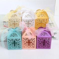 Creativo/Stile classico/Bella Cubi Carta della carta Scatole di Favore con Nastri (set di 12) (050173190)