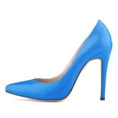 Donna Pelle verniciata Tacco a spillo Stiletto Punta chiusa scarpe (085059011)