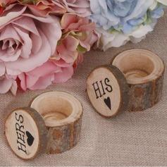 Ring-Kasten in Holz (Set mit 2 Paar) (103103585)
