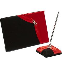 Rosso e nero Strass Guestbook & Set di penne (101036829)