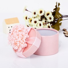Charmant Cylindre Carte papier Boîtes cadeaux avec Fleur(s) (Lot de 12) (050039696)