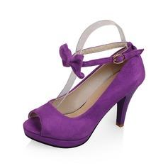 Mokkanahka Piikkikorko Sandaalit Peep toe kengät (087062807)