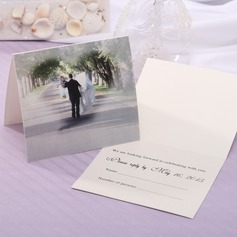 Personalized Bride & Groom Style Top Fold Response Cards (Set of 20) (114063917)