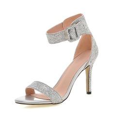 Naisten Kuohuviini glitteri Piikkikorko Sandaalit kengät (087087386)