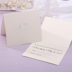 Personalized Modern Style Top Fold Response Cards (Set of 20) (114063919)