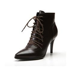 Frauen Kunstleder Stöckel Absatz Absatzschuhe Stiefelette Schuhe (088057402)