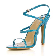 Patent Leather Stiletto Heel Sandals Slingbacks shoes (087016984)