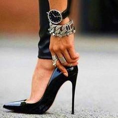 Frauen Lackleder Stöckel Absatz Absatzschuhe Geschlossene Zehe Schuhe (085124944)
